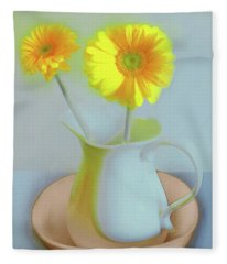 Abstract Floral Art 303 Fleece Blanket