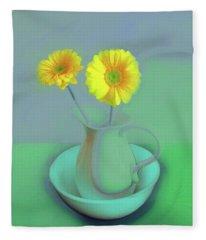 Abstract Floral Art 305 Fleece Blanket