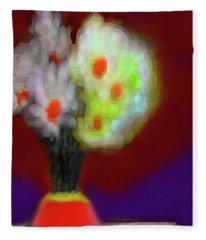 Abstract Floral Art 340 Fleece Blanket