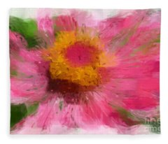 Abstract Flower Expressions Fleece Blanket