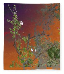 Abstract Flowers Of Light Series #13 Fleece Blanket