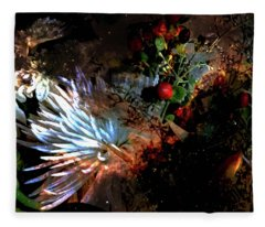 Abstract Flowers Of Light Series #5 Fleece Blanket