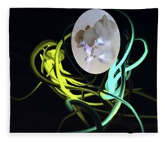 Abstract Flowers Of Light Series #6 Fleece Blanket