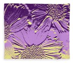 Abstract Flowers 3 Fleece Blanket