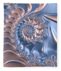 Abstract Fractal Art Rose Quartz And Serenity  Fleece Blanket
