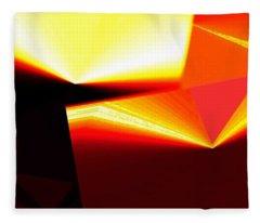 Abstract Fusion 287 Fleece Blanket