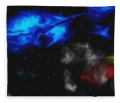 Abstract Galaxy Series No 10 Fleece Blanket