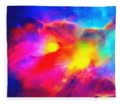 Abstract Galaxy Series No 2 Fleece Blanket