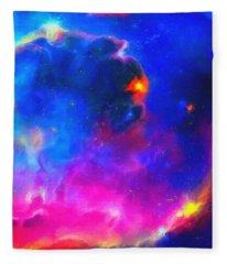 Abstract Galaxy Series No 3 Fleece Blanket