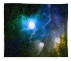 Abstract Galaxy Series No 6 Fleece Blanket