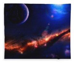 Abstract Galaxy Series No 8 Fleece Blanket