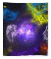 Abstract Galaxy Series No 9 Fleece Blanket