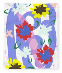 Abstract Garden #1 Fleece Blanket
