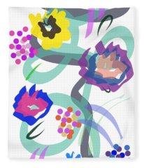Abstract Garden Nr 4 Fleece Blanket