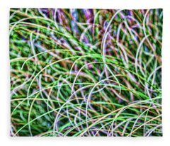 Abstract Grass Fleece Blanket