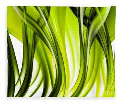 Abstract Green Grass Look Fleece Blanket