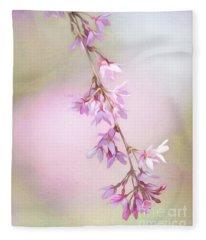 Abstract Higan Chery Blossom Branch Fleece Blanket