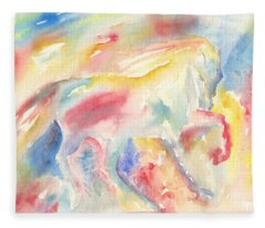 Abstract Horse II Fleece Blanket