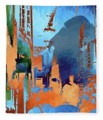 Abstract  Images Of Urban Landscape Series #1 Fleece Blanket