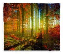 Abstract Landscape 0745 Fleece Blanket
