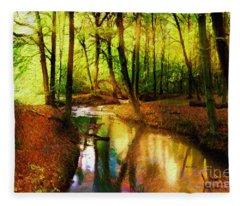 Abstract Landscape 0747 Fleece Blanket
