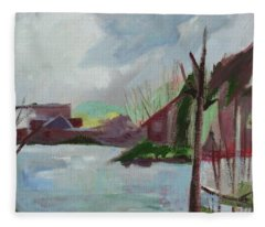 Abstract Landscape Fleece Blanket
