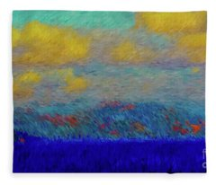 Abstract Landscape Expressions Fleece Blanket