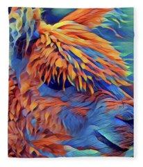 Abstract Llama Fleece Blanket