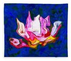 Abstract Lotus Fleece Blanket