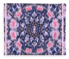 Abstract Mandala Pattern Fleece Blanket