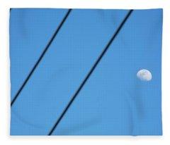 Abstract Moon Wires Fleece Blanket