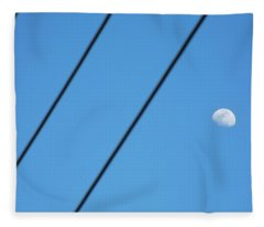 Abstract Moon Wires Fleece Blanket