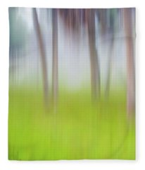Abstract Moving Trees #1 Background Fleece Blanket