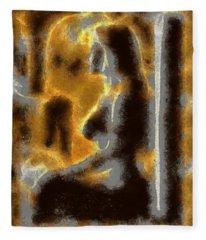 Abstract Nude Form Fleece Blanket