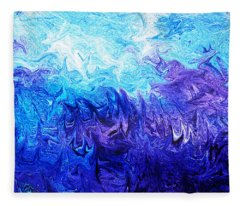 Abstract Ocean Fantasy Five Fleece Blanket
