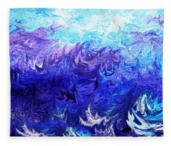 Abstract Ocean Fantasy Four Fleece Blanket