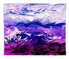 Abstract Ocean Fantasy One Fleece Blanket