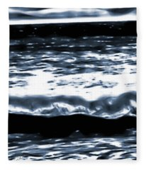 Abstract Ocean Fleece Blanket