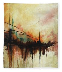 Abstract Painting Contemporary Art Fleece Blanket