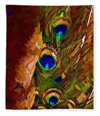 Abstract Peacock Fleece Blanket