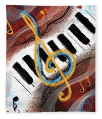 Abstract Piano Concert Fleece Blanket