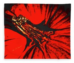 Abstract Pumpkin Stem Fleece Blanket