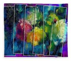 Abstract Roses 2 Fleece Blanket