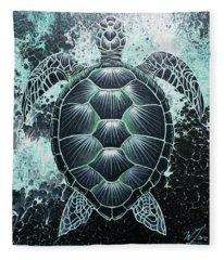 Abstract Sea Turtle Fleece Blanket