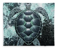 Abstract Sea Turtle Fleece Blanket