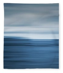 Abstract Seascape II Fleece Blanket