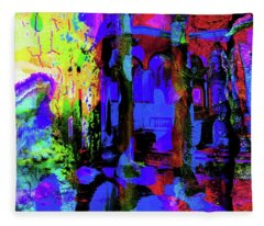 Abstract Series 0177 Fleece Blanket
