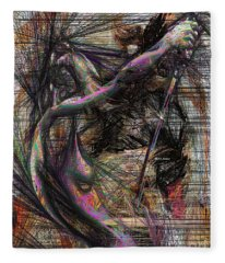 Fleece Blanket featuring the digital art Abstract Sketch 1334 by Rafael Salazar