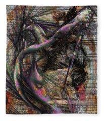 Abstract Sketch 1334 Fleece Blanket