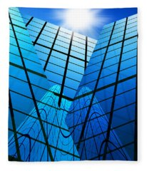 Abstract Skyscrapers Fleece Blanket